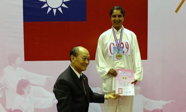 Dipika Arbez Médaille d'argent Taichi Jian CMC(épée) – à Taipei Arena 台北小巨蛋.