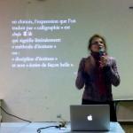 Rencontre tuishou 2015 - conférence Yolaine Escande